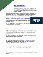 manual para intalar driver