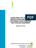 GUIDELINES FOR THE SAFE INSTALLATION AND USE OF CRYOGENIC FOOD FREEZING AND COOLING EQUIPMENT