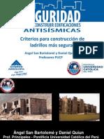 Criterios para construcción de ladrillo mas seguras