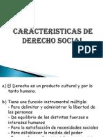 Caracteristicas de Derecho Social