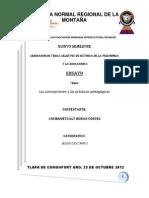 Las concepciones y las prácticas pedagógicas