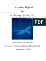 Jet Airways Investment Report