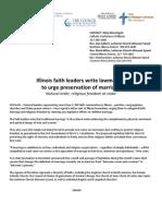 Interfaith Letter to Illinois legislators