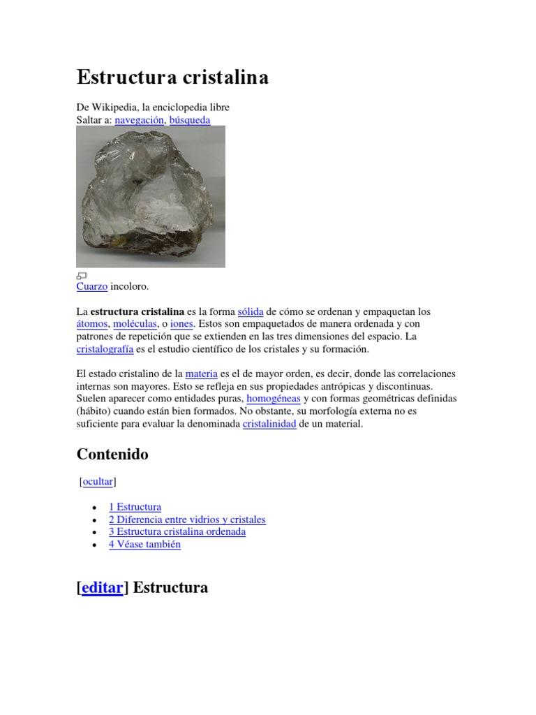 Estructura Cristalina Cristal Biofísica