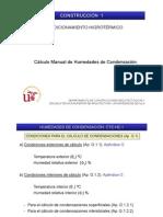 Calculo Manual Humedades de Condensacion
