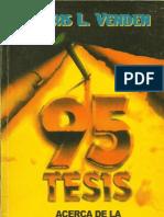 95 tesis sobre la Justificación por la fe