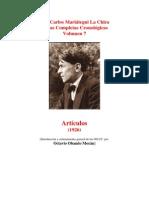 Vol 07 - MARIATEGUI - Obras Completas Cronológicas. 1926. (AUDIOLIBROS)