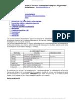 Analisis Administracion Recursos Humanos Empresa a El Ganaderoa