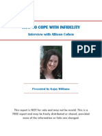 How To Cope With Infidelity-Interview With Allison Cohen