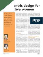 User Centric Design for Innovative Women