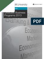 Monash University Graduate Business Programs 2013