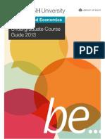 Faculty of Business & Economics Undergraduate Course Guide 2013