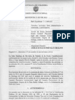 Sentencia T-1183 de 2012 Sobre Eleccion de Representantes a Consultivas