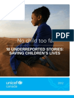 UNICEF Canada lists 10 under reported stories of 2012