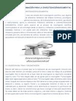 GESTIÓN DE LA INFORMACIÓN PARA LA INVESTIGACIÓNDOCUMENTAL