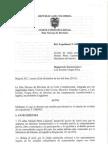Auto de suspensión de la Resolucion 0121 del 2012