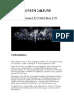4110_Media Analysis_Game of Thrones