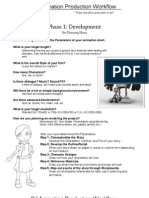 3d Animation production workflow