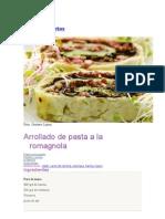 Arrollado de Pasta a La Romagnola