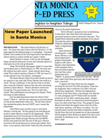 Santa Monica Op-Ed Press  Jan 2013, Issue #1