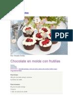 Chocolate en Molde Con Frutillas