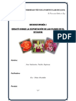Ensayo sobre la exportación de las flores en el Ecuador