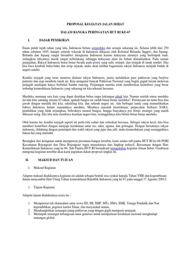 Contoh Proposal Kegiatan 17 Agustus Doc Yang Benar