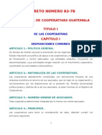 Ley General de Cooperativas de Guatemala