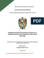 Memorias secretas de mujeres victimas de terrorismo (Perú)