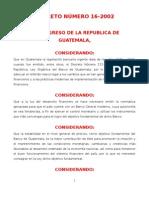 Ley Organica Del Banco de Guatemala
