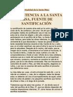 Teologia y Espiritualidad sobre la Santa Misa