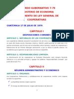 Reglamento de La Ley General de Cooperativas