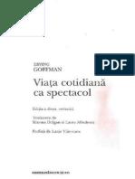 Erving Goffman - Viata ca spectacol