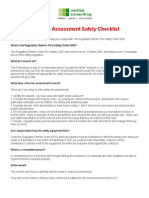 Fire Risk Assessment Safety Checklist