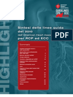 Linee Guida Per Rcp e Ecc, 2010