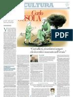 Intervista a Carlo Ossola Sui Criteri Per Valutare - Repubblica 03.01.2013