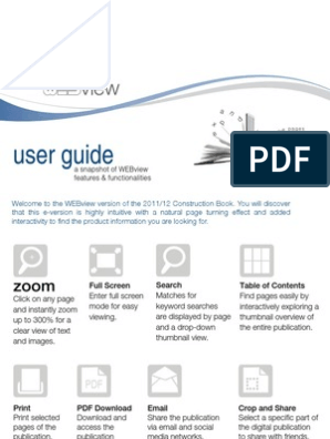 User Guide: A Snapshot Of Webview Features & Functionalities