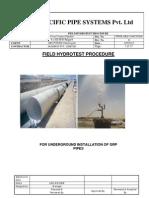 008_field Hydrotest Procedure