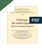 Chronique Des Annees Egarees