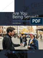 McTernan, John (2012) Are You Being Served? Towards More Responsive Public Services, Adelaide Thinker in Residence 2011–2012