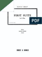 Primera Suite para Banda Militar, Gustav Holst