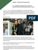 Barcelona v Real Madrid - El Clasico Previews and Predictions.20130103.145527