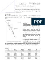 Using Snell's law to measure the refractive index of perspex