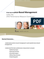 Performance Based Management