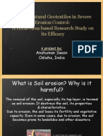Use Of Natural Geotextiles in Severe Erosion Control