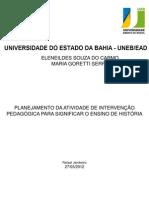 INTERVENÇÃO PEDAGÓGICA