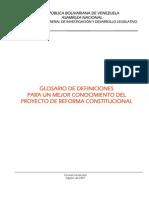 Reforma Constitucional 2007 - Glosario