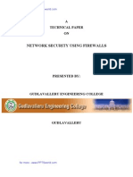 Network Security Using Firewalls