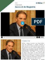 Gianni Lettieri - bilancio del 2012, disastro de Magistris