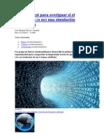 Crean Un Test Para Averiguar Si El Universo Es Una Simulacion Informatica